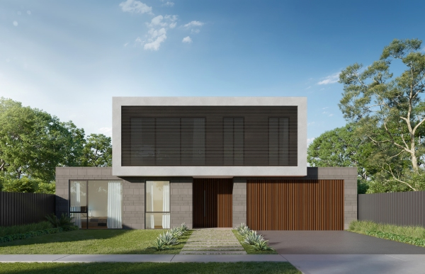 The final rendered image of the house by 9pm Design